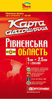 Карта автодорог Ровненской области
