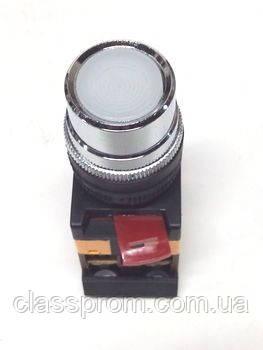 Кнопка ABLF-22 прозрачный d22мм неон/240В 1з+1р IEK