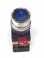 Кнопка ABLF-22 синий d22мм неон/240В1з+1р IEK