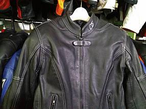 Мото куртка б/у кожа женская К-6, фото 2
