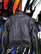 Мото куртка б/у кожа женская К-6, фото 3