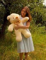 Плюшевая большая игрушка медведь, мишка 100 см, медвежонок ,кремовый
