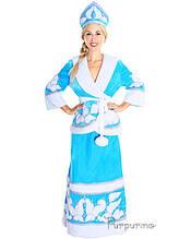 Карнавальний костюм Снігуронька з бубонами 48р.