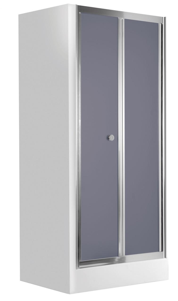 Душевые двери для ниши Deante FLEX, складывающиеся, стекло графитовое, 90 см.