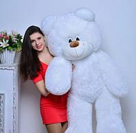Плюшевая большая игрушка медведь, мишка 140 см, медвежонок ,белый