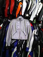 Мото куртка б/у кожа женская SPIDI серебро