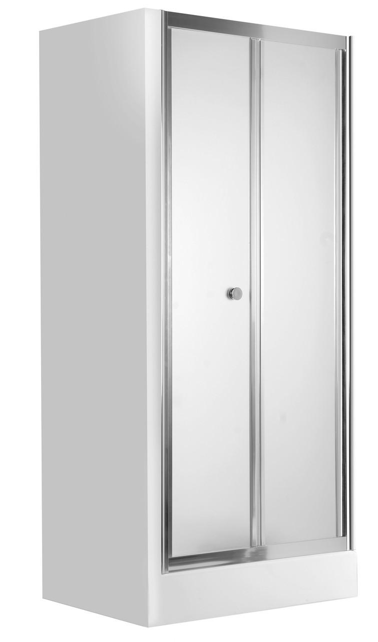 Душевые двери для ниши Deante FLEX, складывающиеся, стекло матовое, 80 см.