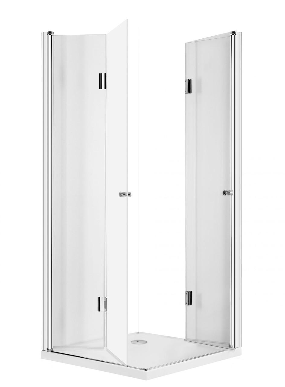 Душевая кабина квадратная с складывающимимся дверями Deante KERRIA, стекло прозрачное, 80 см