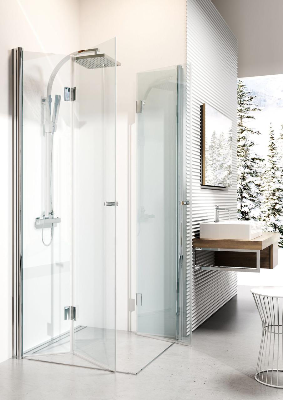 Душевая кабина квадратная с складывающимимся дверями Deante KERRIA, стекло прозрачное, 90 см