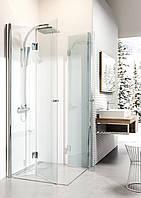Душевая кабина квадратная с складывающимимся дверями Deante KERRIA, стекло прозрачное, 90 см, фото 1