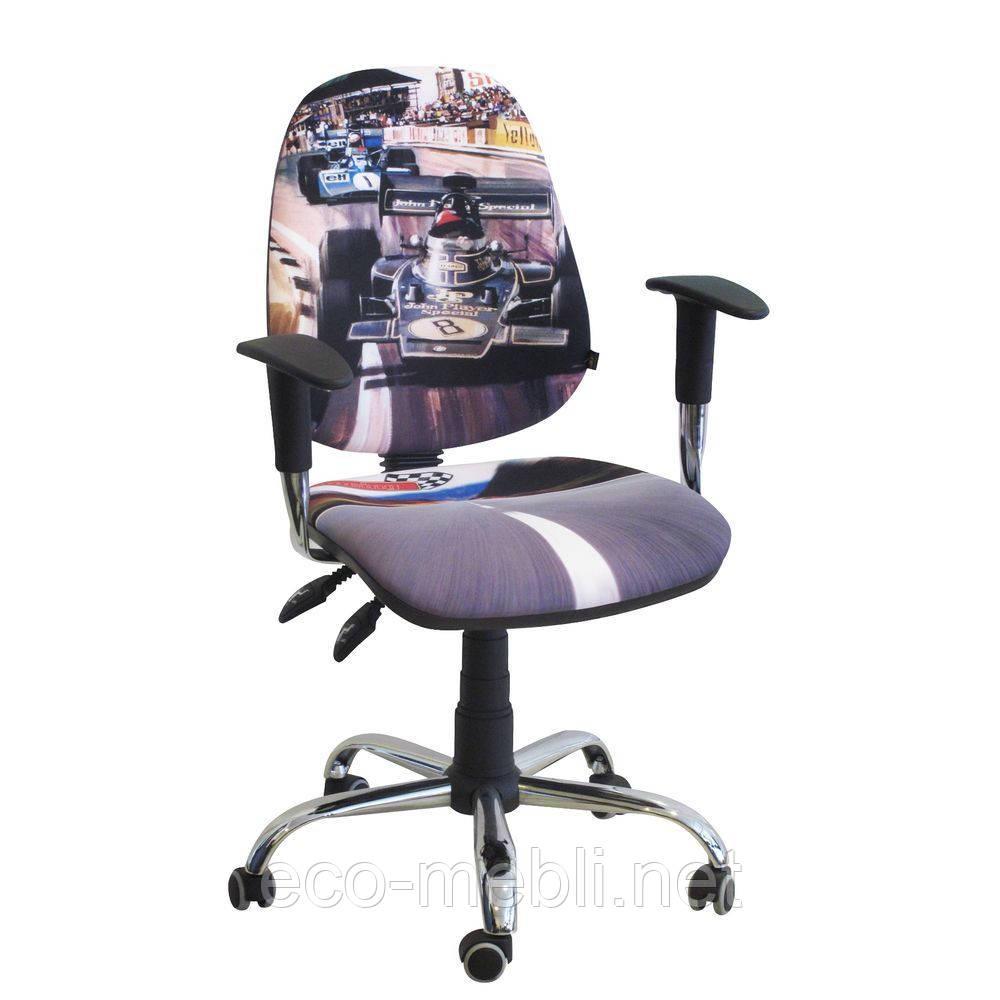 Дитяче поворотне крісло Дизайн Бридж Хром