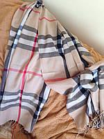 Шарф палантин БРЕНДОВЫЙ кашемировый, размер 170*70см