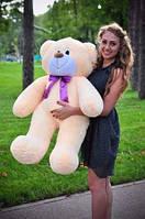 Плюшевая большая игрушка медведь, мишка 110 см, медвежонок , кремовый