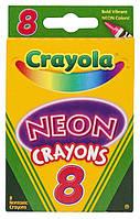 Crayola Neon Crayons, 8 / Crayola неоновые мелки 8шт.