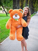 Плюшевая большая игрушка медведь, мишка 110 см, медвежонок , карамельный