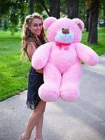 Плюшевая большая игрушка медведь, мишка 110 см, медвежонок , розовый