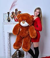 Плюшевая большая игрушка медведь, мишка 110 см, медвежонок , коричневый