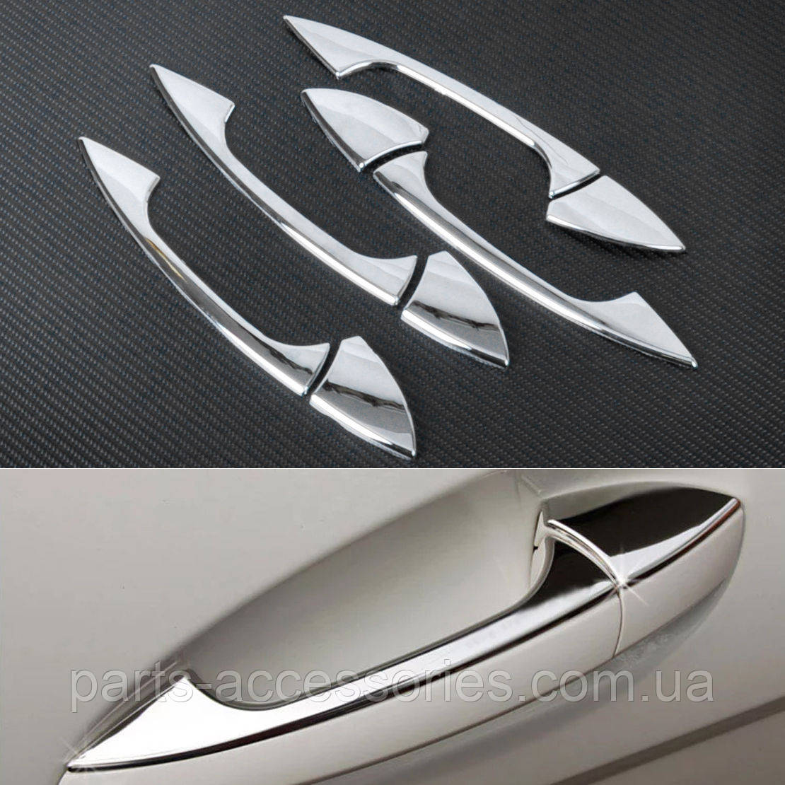 Хромовые накладки на дверные ручки Mercedes A A-Class W176 2013+ Новые
