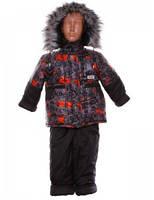 Зимний полукомбинезон с курткой на мальчика с мехом от  1 до 5 лет