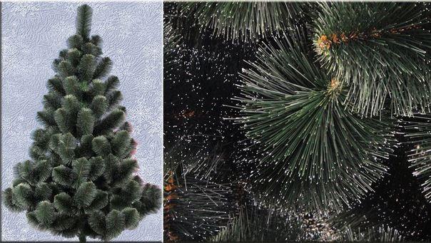 Искусственная елка 2 метра (сосна с инеем) темно-зеленая