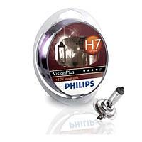 Лампа автомобильная Philips VisionPlus H7 ярко-белый свет сголубым оттенком 12972 VP S2