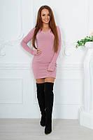Красивое мягкое силуэтное платье
