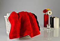 Мягкое хлопковое полотенце 50x90 см Ротаус, цвет красный