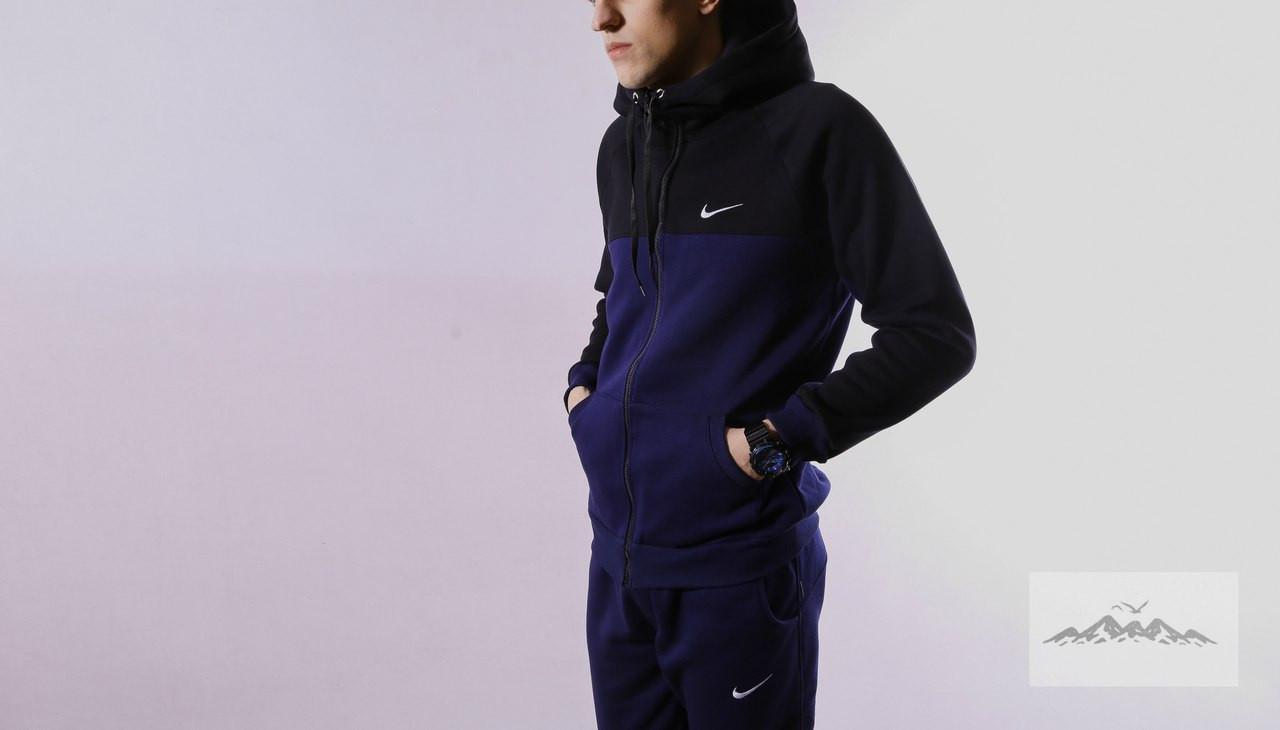 e166b2f5 Мужской зимний спортивный костюм Nike черно-синий (реплика) - Обувь и  одежда с