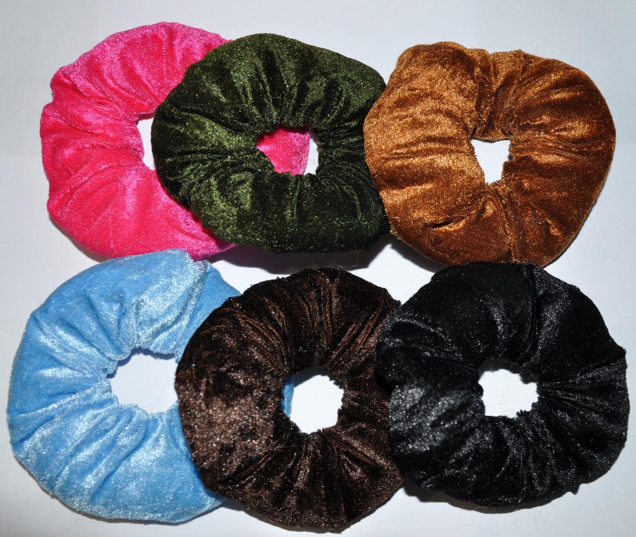 Обьемные велюровые Резинки для волос (12 шт)