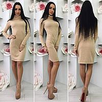 Платье утепленное с карманами 09/438