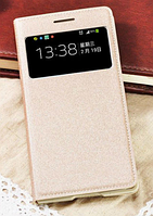 Чехол для Samsung Galaxy S4 mini i9190 S-View золотистый