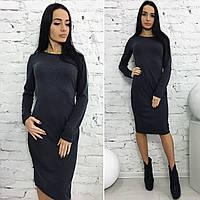 Платье трикотажное приталенное 09/440
