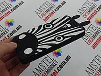Объемный 3D силиконовый чехол для Meizu M1 mini Зебра