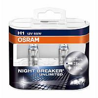 Галогенная автомобильная лампа OSRAM NIGHT BREAKER UNLIMITED H1 64150 NBU DUOBOX