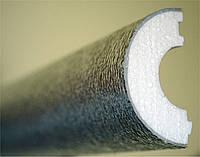 Теплоизоляция трубопровода скорлупа из пенопласта марки ПСБ-С-25 Ø125, 40мм, с покрытием фольгаизолом