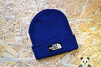 Модная шапка мужская The North Face Beanie синяя