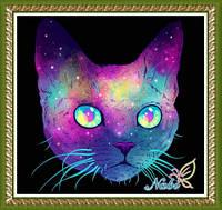 """Алмазная вышивка """"Светящийся кот"""""""