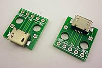 Коннектор micro usb на плате, Коннектор Micro USB, Micro USB Гнездо, Micro USB разъем. 1 шт