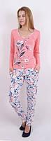 Пижама женская с цветком - Вискоза- 86915