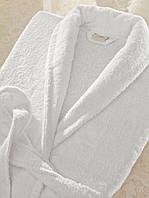 Отельный халат белый Lotus размер L, плотность 450