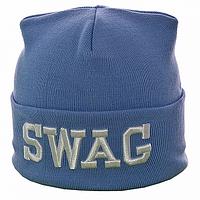 Голубая мужская шапка
