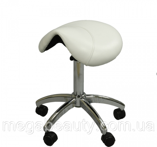 Стул седло без спинки ZD-2001B для мастера педикюра, цвет черный!