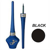 Подводка для глаз черная водостойкая Dip Eyeliner Ffleur E10D 5.1 ml