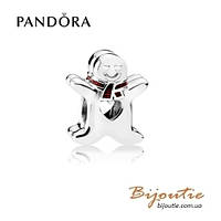 Pandora шарм ПРЯНИК ИМБИРНЫЙ ЧЕЛОВЕЧЕК #792002EN07 серебро 925 эмаль Пандора оригинал