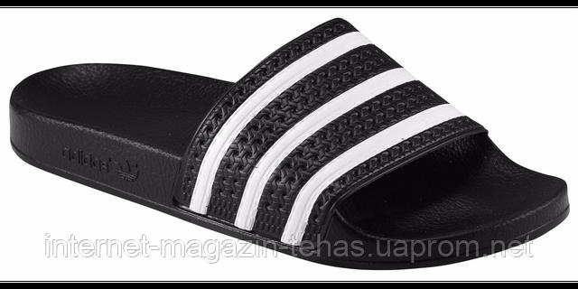 Тапочки мужские Адидас Adilette черные оригинал