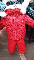 Зимний полукомбинезон с курткой для девочки с мехом
