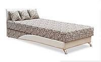 Кровать односпальная Сафари 90х200 с матрасом ткань Дрім beige brown Melange 01 bonе