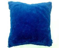 Наволочка травка ( искусственный мех ) синяя