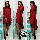 Женское модное платье асимметрия (3 цвета), фото 2