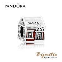 Pandora шарм ДОМИК САНТЫ #792003ENMX серебро 925 эмаль Пандора оригинал